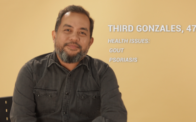 Father Beats Gout and Psoriasis